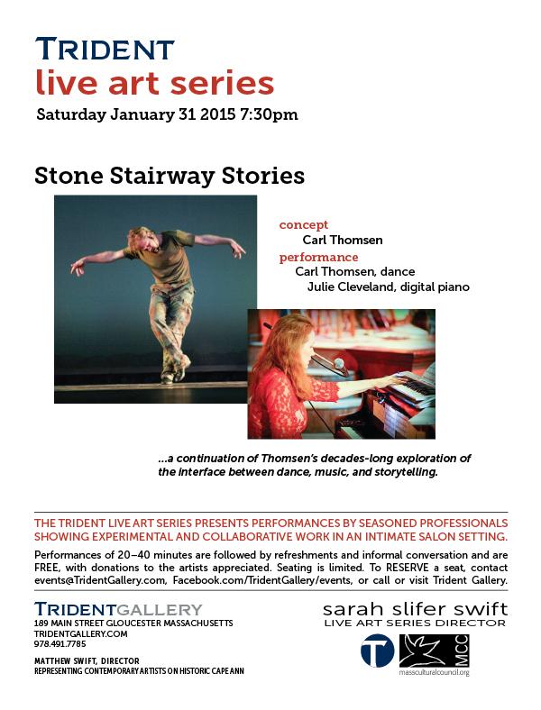 Trident Gallery Live Art Series Present Stone Stairway Stories
