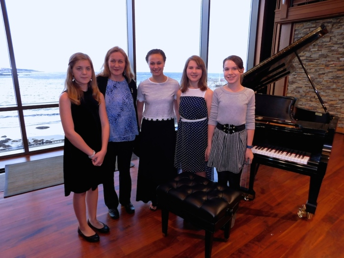 Students of Cape Ann Piano Studio at the Shalin Liu Performance Center.